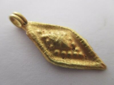 Beautiful ancient medieval GOLD pendant in the form of a diamond (0.55 grams)
