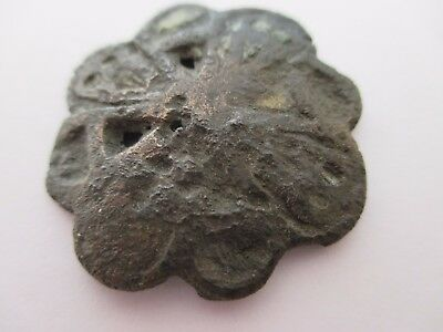 Ancient Viking bronze button