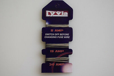 Lyvia Card of 5 Amp, 15 Amp & 30 Amp Fuse Wire for Consumer Fuse Boxes