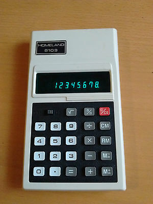 Toshiba Homeland 8109 Vintage Electronic Calculator