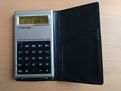Toshiba Lc-826 Vintage Electronic Calculator