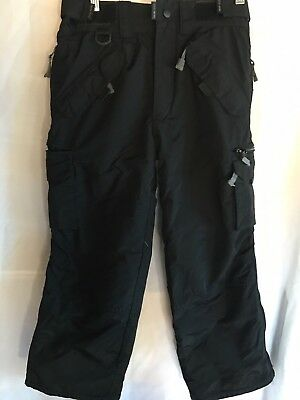 PULSE Cargo Ski Snowboard Waterproof Pants Youth Size M Black Gently EUC