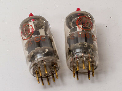 E188CC = E88CC VALVO red label Goldkontakte Paar pair matched tube amp