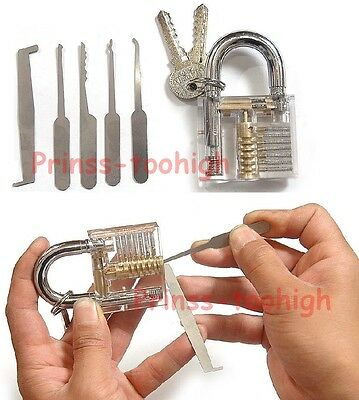 Unlocking tools / crochetage lockpicking locksmith Lock Pick Set + Padlock !