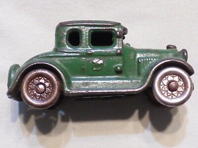 Vintage Cast Iron Green A. C. Williams Coupe Antique Toy Car