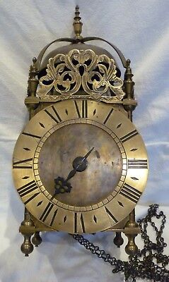 Antique Single Hand 30hr (Weight Driven) Lantern Clock