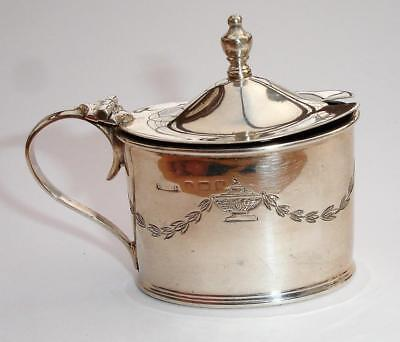 1919 Sterling Silver Mustard Pot with Urn & swag decorative detail
