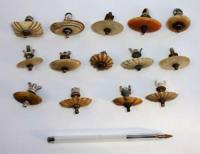 14 antique finials or knops for tea/coffee pot caddy etc - 99p & N/R