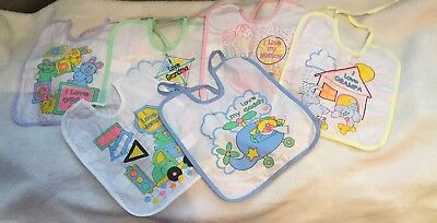 Unbranded 12 Pack Of Baby Bibs, 6 Different Bibs