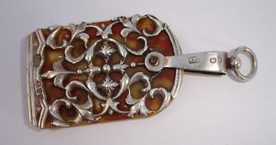 1892 Art Nouveau Sterling Silver Chatelaine Notebook - no reserve