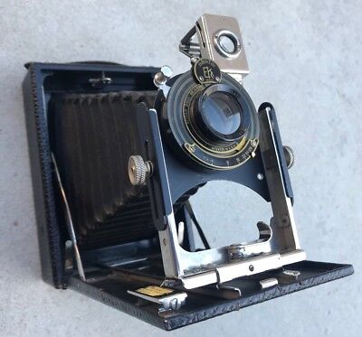 WOW! KODAK PREMO NO. 8 Nice Bellows, Manual, 2 Film Pack Adapters Antique Camera