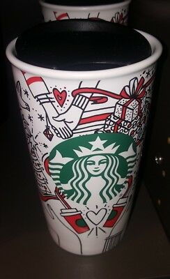 New Starbucks 2017 Christmas Holiday Travel Tumbler Mug Coffee Cup Red Dot