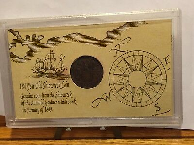 1809 Admiral Gardner Shipwreck East India Co 1808 Cash Coin NO RESERVE!! + FS!!!