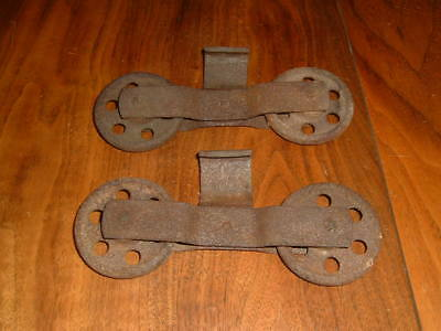 Antique Pair Of Barn Door Rollers Possibly J.e. Porter Ottawa Cast Iron