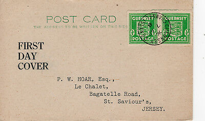 Post Card German Occupation Guernsey Channel Islands 1/2 d  1941 First Day Cover