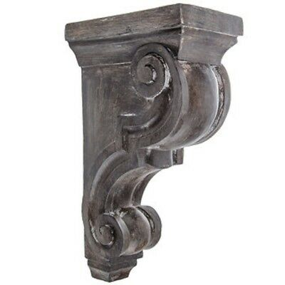 LARGE RUSTIC CORBELS / BRACKETS X 2 Distressed GRAY Corbels Grey XXXL