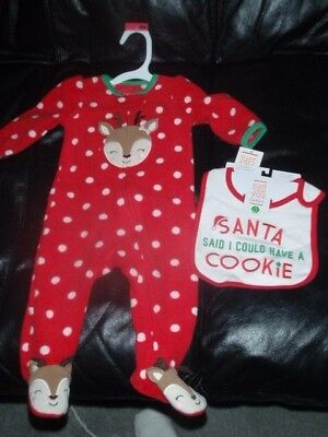 carters just one you christmas baby girl reindeer sleeper outfit 6