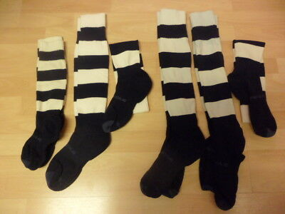 Prostar Football Socks Blue and White Stripe- Job Lot Various sizes -10 Socks