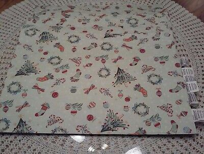 Longaberger Christmas Reversible Placemats NEW CONDITION Set Of 6