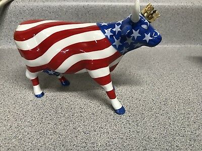 Cow Parade Rare And Retired American Royal Giant Piggy Bank Figurine