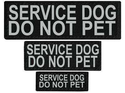 SERVICE DOG DO NOT PET  Patch Reflective Label Tag for Dog Harness Service