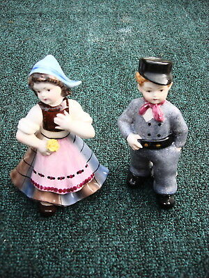 The Dutch Couple 60 Years Old + Porcelain Antique Figurines From Holland