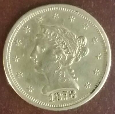 1878-S United States 2 1/2 Dollar 90% Gold Coin!