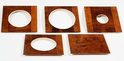 """1 LENS BOARD 4"""" x 4"""" for GRAPHIC VIEW I & II - 4"""" x 5"""", made of solid Alder wood"""