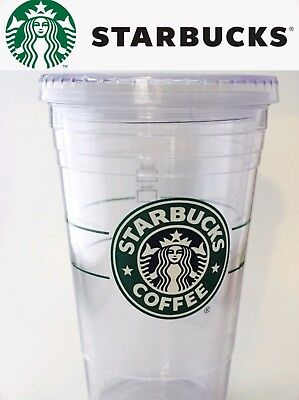 STARBUCKS Clear Grande 16oz Clear Cold Cup To Go Coffee Plastic Tumbler 2009