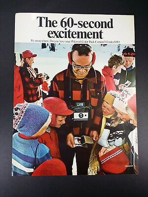 1968 Polaroid Camera Vintage Magazine Print Ad Advertisement