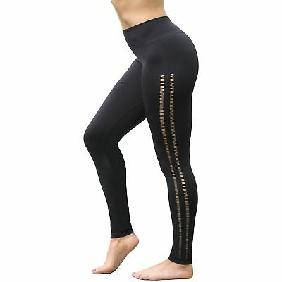 (TG. Medium) GYMVERSUS - Leggings sportivi -  donna Black Medium (p0S)