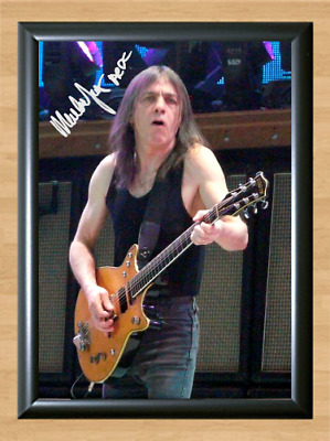 Malcolm Young ACDC AC DC Signed Autographed A4 Photo Poster Music Memorabilia cd