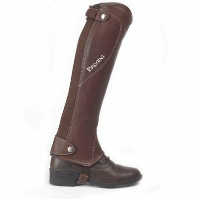Brogini Milano Leather Unisex Footwear Riding Gaiters - Brown All Sizes