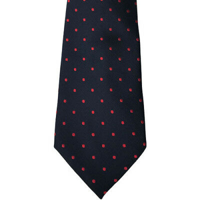 Equetech Polka Dot Show Unisex Accessory Tie - Navy/red All Sizes