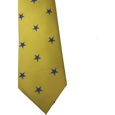 Equetech Star Show Womens Accessory Tie - Canary/navy All Sizes