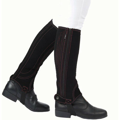 Dublin Adults Easy-care Half Unisex Footwear Chaps - Black Pink All Sizes