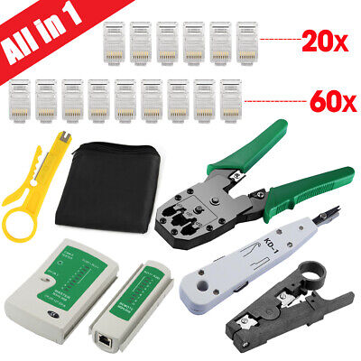 8in1 Network Ethernet LAN RJ11 RJ45 CAT5 CAT6 Cable Tester Wire Tracker Tool Kit