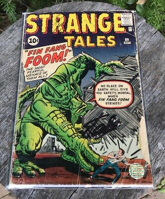 Strange Tales 89 Signed By Stan Lee (First Fing Fang Foom) Marvel Key Issue