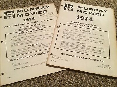 MURRAY 1974  Riding Lawn Mower,and lawn mowers parts and price cataloge