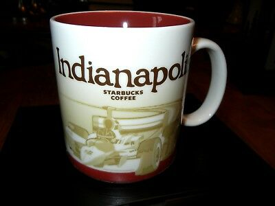 Starbucks INDY 500 Race Car Indianapolis Coffee MUG - Global Icon City SKYLINE