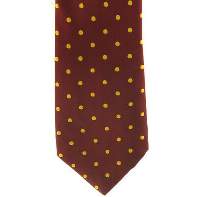 Showquest Woven Medium Spot Unisex Accessory Tie - Burgundy/sunshine All Sizes
