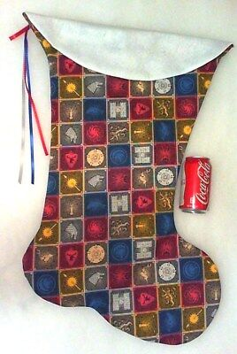 giant christmas stocking game of thrones crests print handmade new - Giant Christmas Stocking