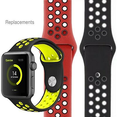 Apple Watch Strap Nike Sport Band Silicone Replacement 38mm 42mm Band Series 3