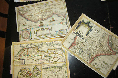 Africa - From unknown, I believe French travel book, ca: 1700, 3 maps