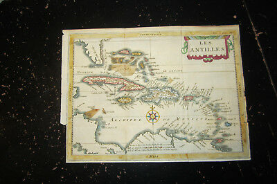 Antilles  - From unknown, I believe French travel book, ca: 1700, Les Antilles
