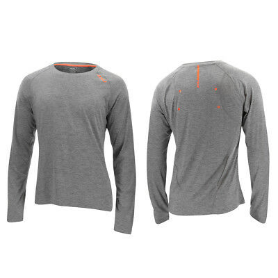 2XU Men's Urban L/S Top Moon Grey Marle/Sunburst Orange L