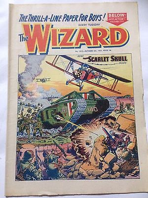 DC Thompson. THE WIZARD Comic October 6th 1962. Issue 1912 *Free UK Postage*