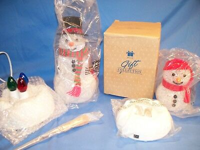 Avon Chilly Light Up Snowman  Little Chilly kid  & Chilly Sam NOS