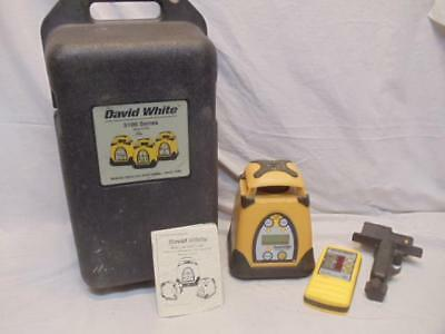 David White 3175 AutoLaser Electronic Self Leveling Rotary Laser w/ Case WORKS