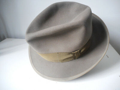 WONDERFUL VINTAGE 40's-50's STETSON WHIPPET, Grayish Green, Size 7 1/8th
